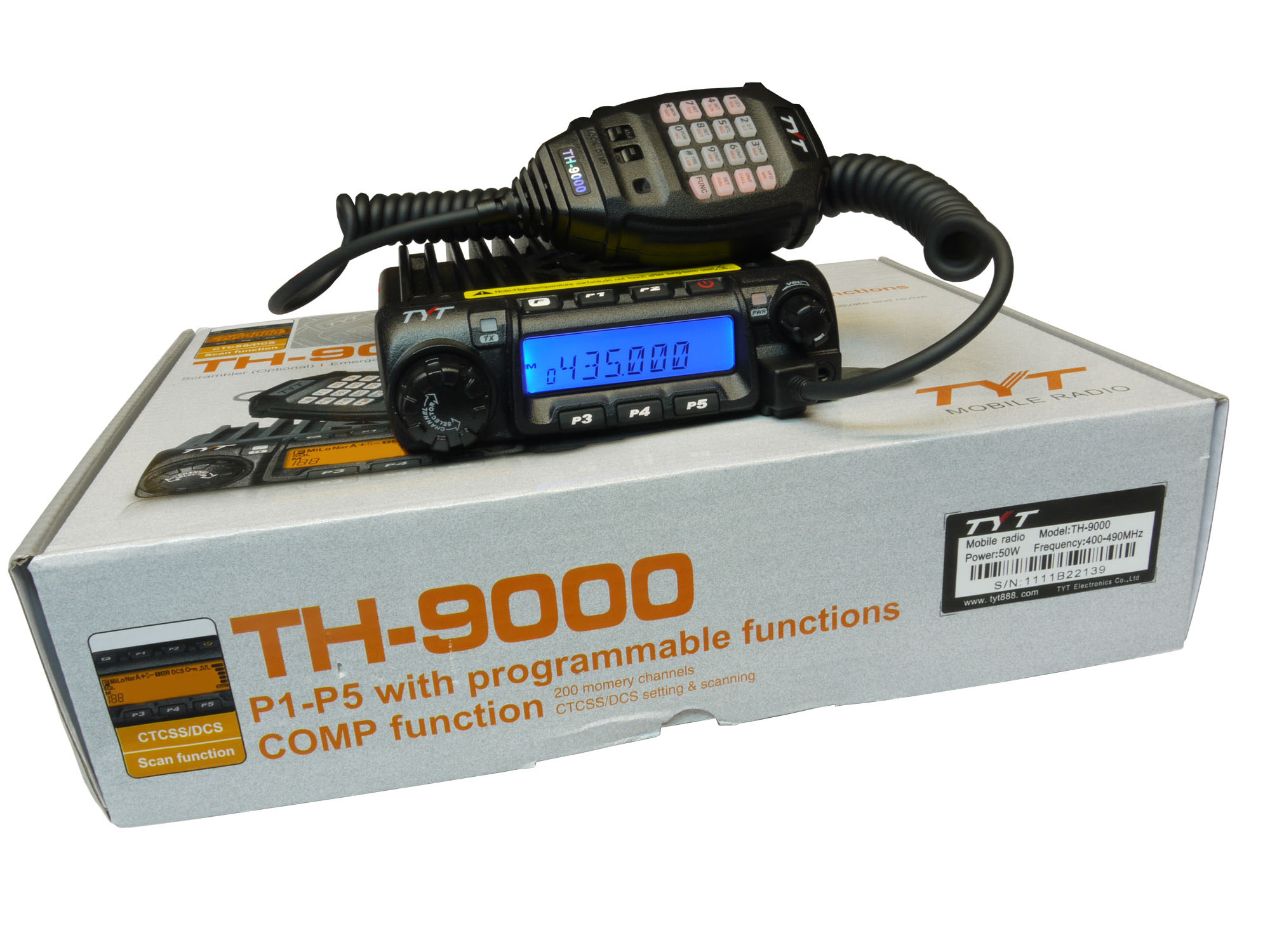 TYT TH-9000D UHF 400-490 MHz Mobile Transceiver